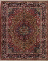 Floral Brown Karastan Oriental 9x10 Wool Area Rug