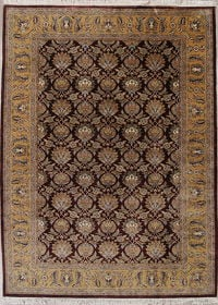 All-Over Agra Indian Oriental Hand-Knotted 10x14 Wool Area Rug