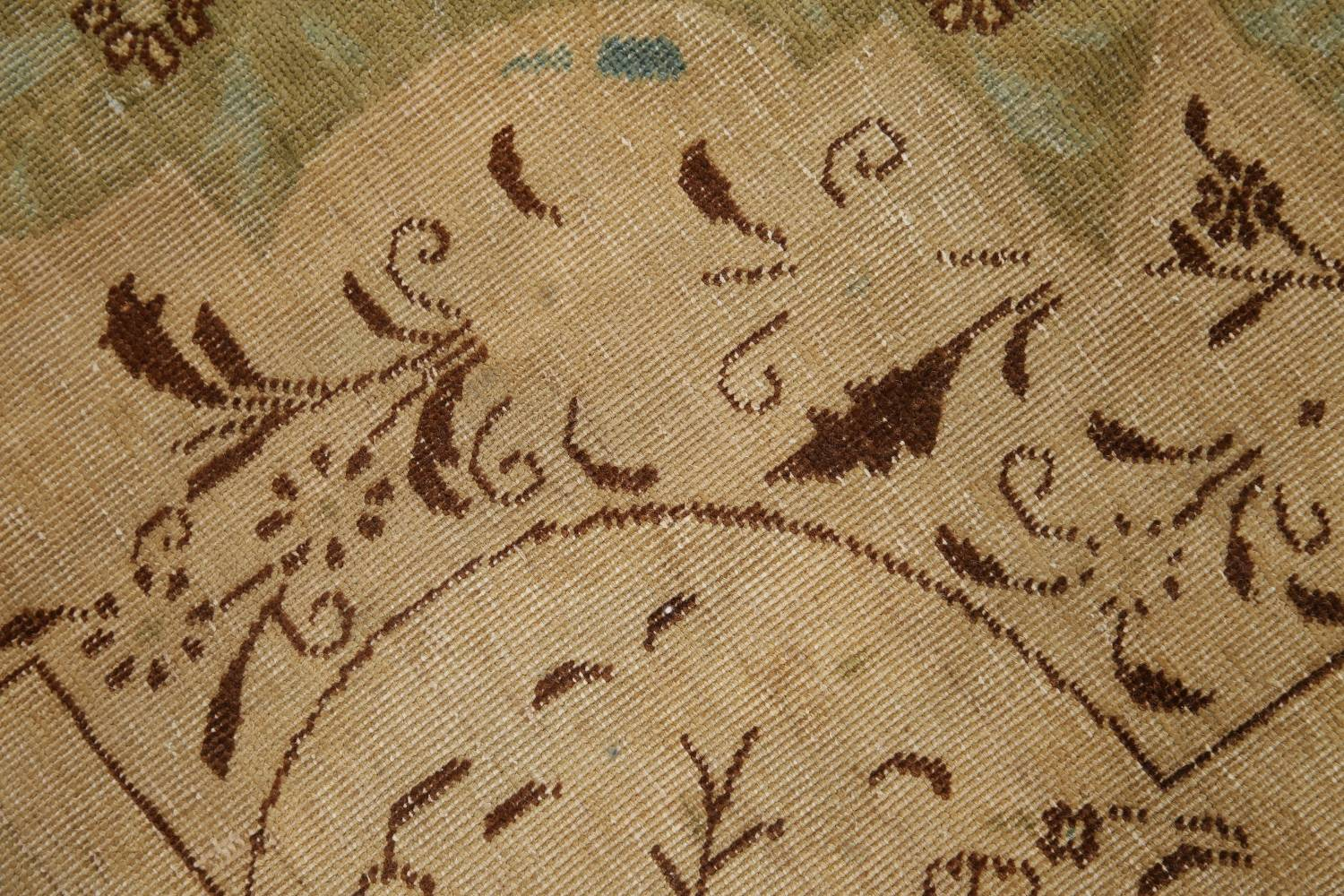 Muted Tabriz Persian Hand-Knotted 10x12 Wool Distressed Area Rug image 9