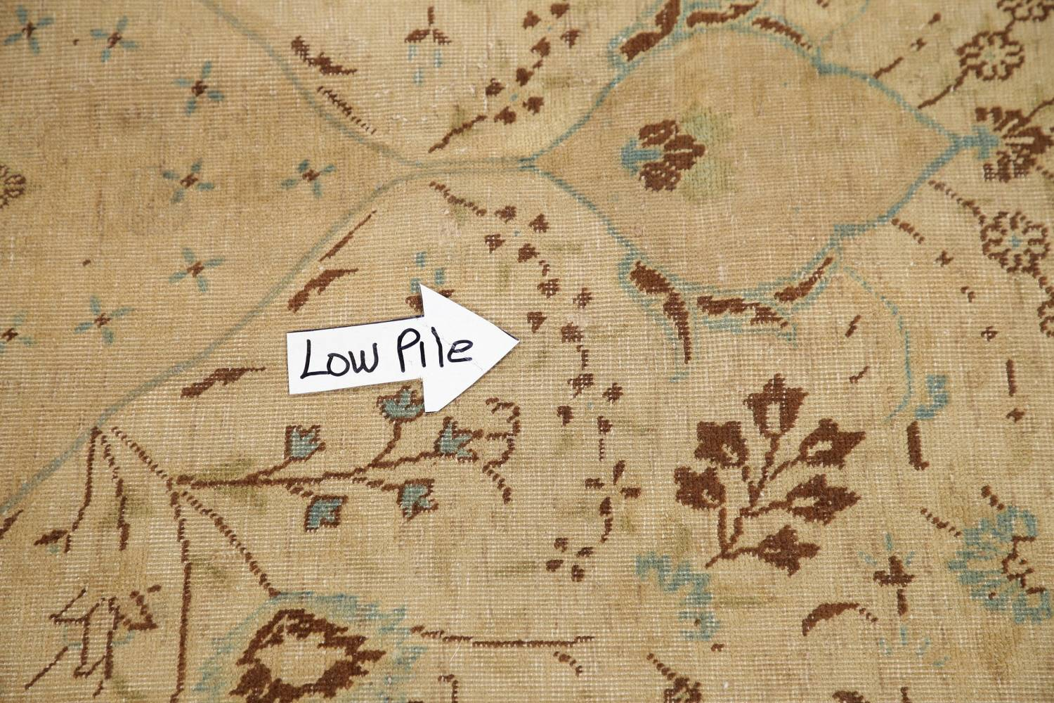 Muted Tabriz Persian Hand-Knotted 10x12 Wool Distressed Area Rug image 11