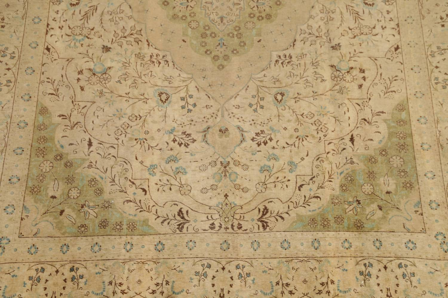 Muted Tabriz Persian Hand-Knotted 10x12 Wool Distressed Area Rug image 5