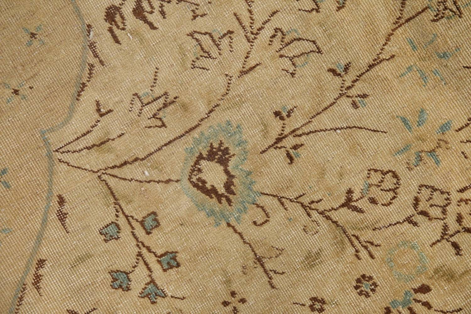 Muted Tabriz Persian Hand-Knotted 10x12 Wool Distressed Area Rug image 7