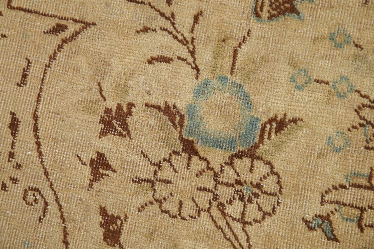 Muted Tabriz Persian Hand-Knotted 10x12 Wool Distressed Area Rug image 8