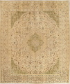 Muted Tabriz Persian Hand-Knotted 10x12 Wool Distressed Area Rug image 1