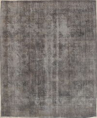 Over-dyed Tabriz Persian Distressed Rug 10x13