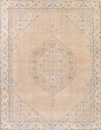 Muted Tabriz Persian Hand-Knotted 10x12 Wool Area Rug