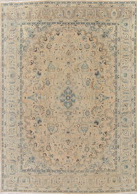 Muted Pale Peach Kashmar Persian 9x13 Wool Area Rug