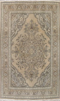 Muted Tabriz Persian Hand-Knotted 8x12 Wool Area Rug