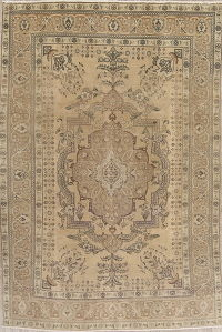Antique Muted Tabriz Persian 7x10 Wool Distressed Area Rug