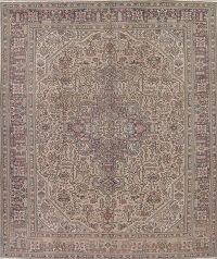 Muted Tabriz Persian 10x12 Wool Area Rug