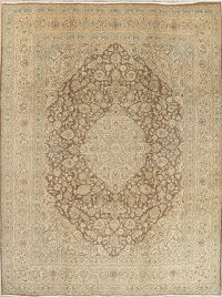 Muted Kashmar Persian Hand-Knotted 10x12 Distressed Area Rug