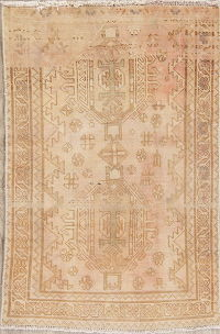 Muted Shiraz Persian Hand-Knotted 3x5 Wool Distressed Rug