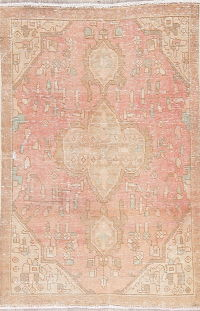 Muted Tabriz Persian Hand-Knotted 3x5 Wool Distressed Rug