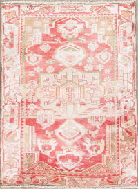 Muted Heriz Persian Hand-Knotted 3x4 Wool Distressed Rug