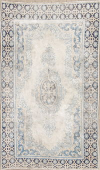 Antique Muted Kerman Persian Hand-Knotted 3x5 Distressed Rug