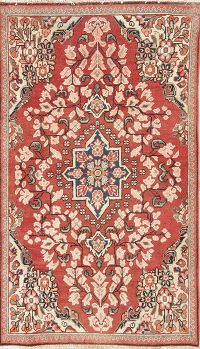 Geometric Mahal Persian Hand-Knotted 3x6 Wool Runner Rug
