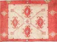 Geometric Tabriz Persian Hand-Knotted 2x3 Wool Rug