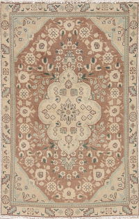 Tabriz Muted Distressed Rug 3x5