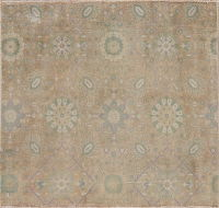 Sarouk Muted Persian Rug 3x3 Square