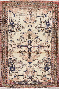 Muted Hamedan Persian Rug 3x5