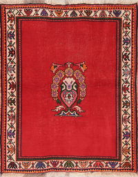 RED Shiraz Persian Wool Rug 4x5