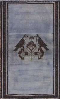 Over-dye Blue Gabbeh Persian Rug 3x5