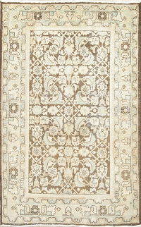 Antique Tabriz Muted Rug 4x7