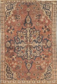 Pre-1900 Vegetable Dye Bakhtiari Persian Rug 4x6