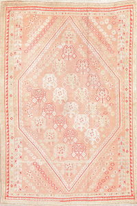 Pre-1900 Vegetable Dye Oushak Muted Rug 5x7