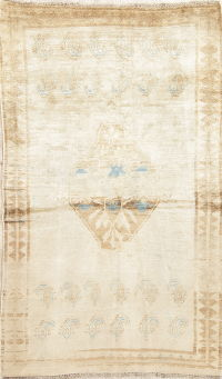 Antique Qashqai Muted Distressed Rug 4x7