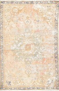 Antique Bakhtiari Muted Distressed Rug 4x6