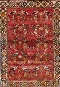 Bird Design Shiraz Persian Rug 4x6