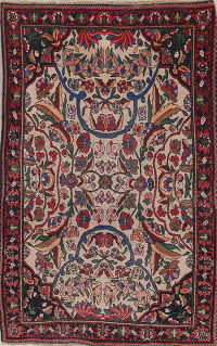 Antique Bakhtiari Persian Rug 5x7