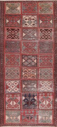 Patchwork Red Bakhtiari Wool Rug 4x8