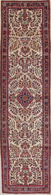 Ivory 3x11 Lilian Persian Runner Rug