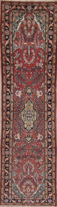Red Malayer Persian Runner Rug 3x9