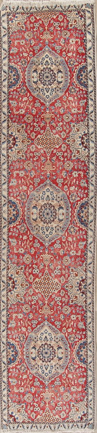 Red Nain Persian Runner Rug 3x12