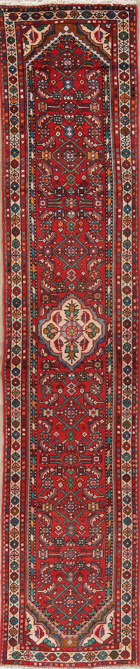 Red Lilian Persian Runner Rug 3x12