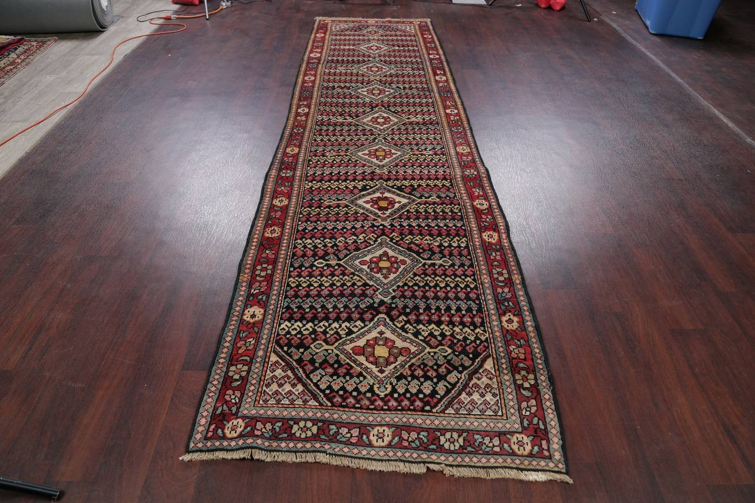 Antique Sultanabad Persian Runner Rug 3x12 image 16