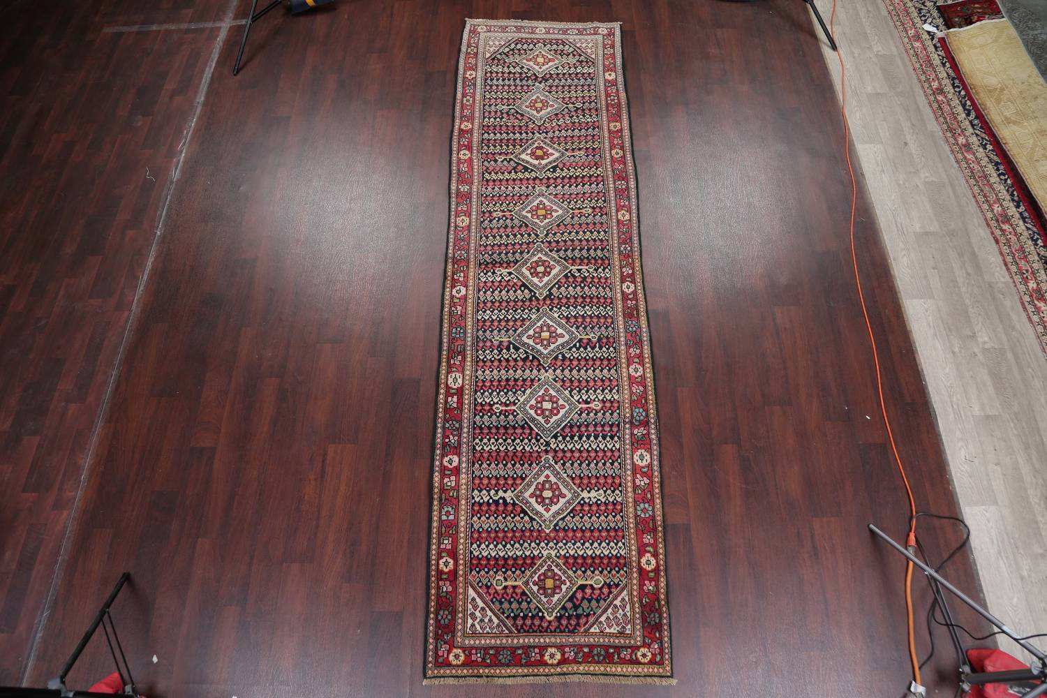 Antique Sultanabad Persian Runner Rug 3x12 image 2