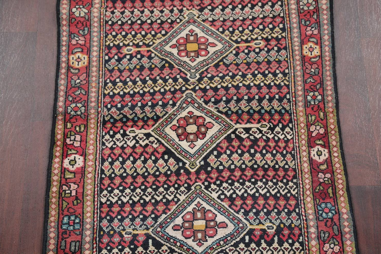 Antique Sultanabad Persian Runner Rug 3x12 image 4