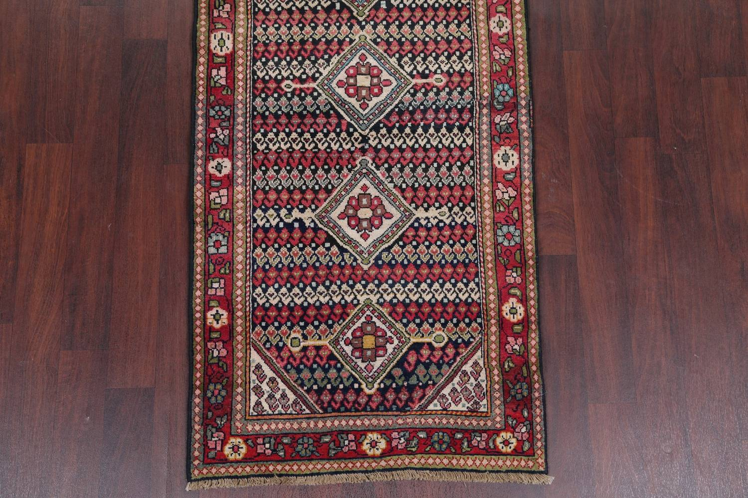 Antique Sultanabad Persian Runner Rug 3x12 image 5