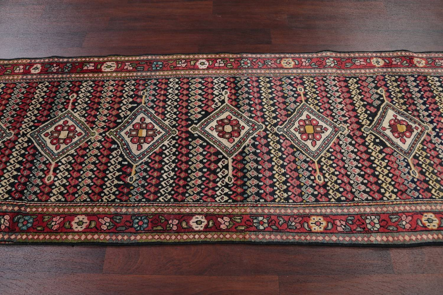 Antique Sultanabad Persian Runner Rug 3x12 image 15