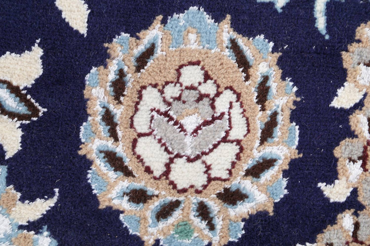 Palace Sized Wool/Silk Nain Persian Blue Rug 13x20 image 9