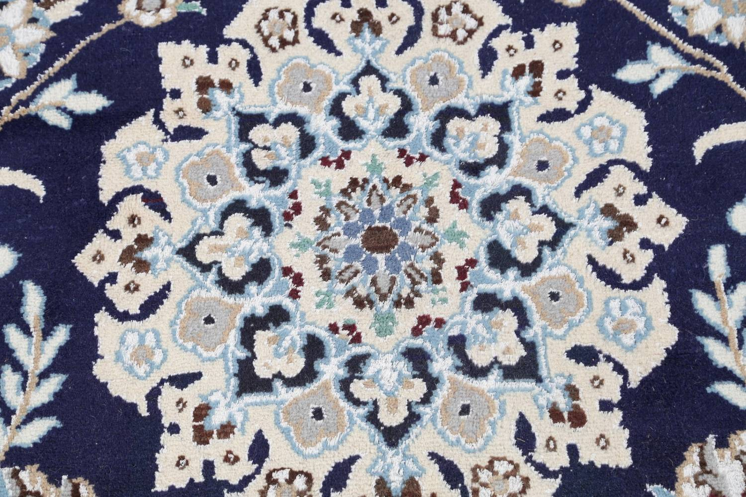 Palace Sized Wool/Silk Nain Persian Blue Rug 13x20 image 10