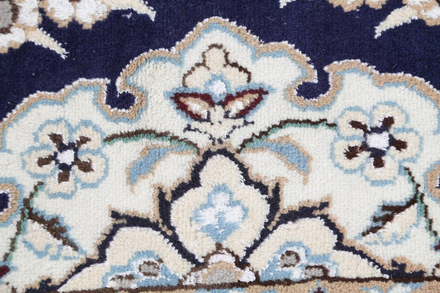 Palace Sized Wool/Silk Nain Persian Blue Rug 13x20 image 11
