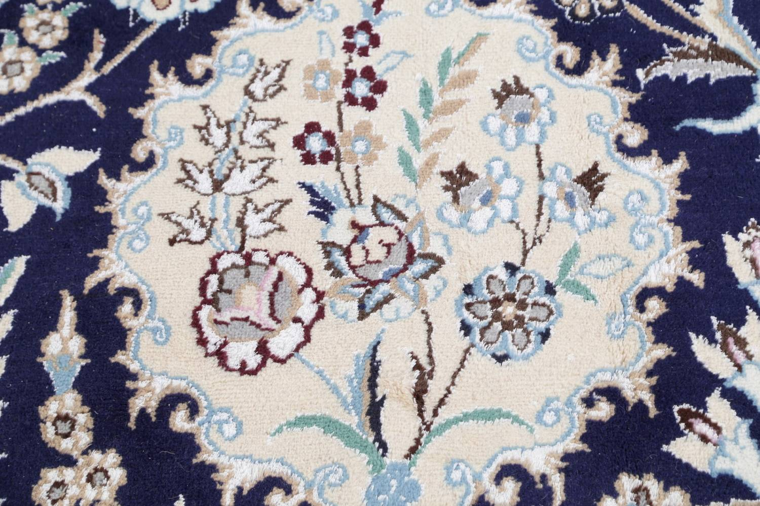 Palace Sized Wool/Silk Nain Persian Blue Rug 13x20 image 12