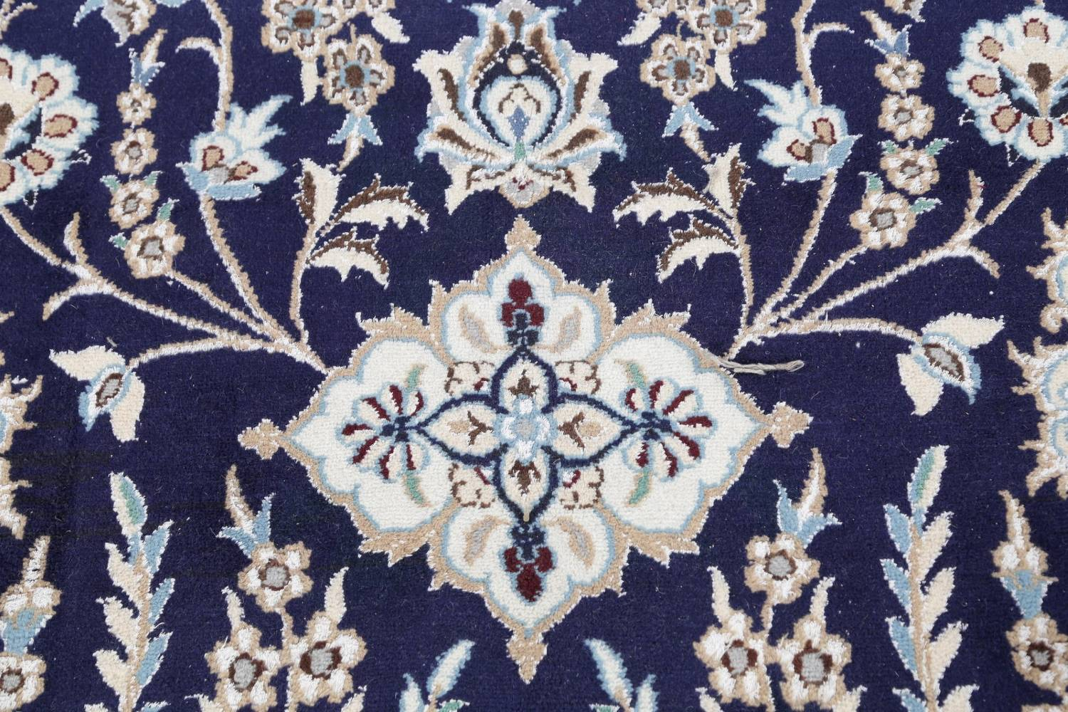 Palace Sized Wool/Silk Nain Persian Blue Rug 13x20 image 13