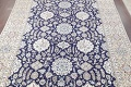 Palace Sized Wool/Silk Nain Persian Blue Rug 13x20 image 3