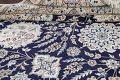 Palace Sized Wool/Silk Nain Persian Blue Rug 13x20 image 20
